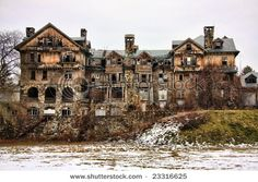 Ruins Of An Abandoned Building In Millbrook, New York. I