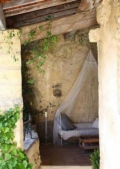 sleeping porch, rustic charm, bed, wall textures, farmhouse living, nook, place, garden, sweet dreams