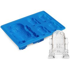 #StarWars R2-D2 Ice Cube Tray 6x4x1in Silicone Mold, $10 via ThinkGeek.Com