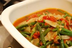 Braised Green Beans with Tomatoes and Onions   Award-Winning Paleo Recipes   Nom Nom Paleo