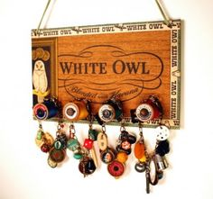 "PS ""Cigar box jewelry holder"", could also be great for keys, belts, mail holder, etc."