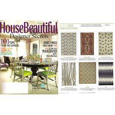 As seen in House Beautiful May 2012: Resort Oakwood rug from @Zinc_Door #zincdoor #housebeautiful #press #rug