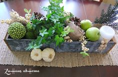 Shades of Green Centerpiece