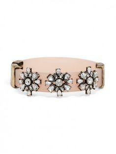 pink & crystal bangle