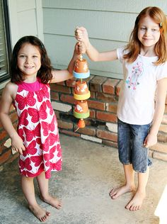 Kids will love making this cute flower pot wind chime (@ Let's Explore)