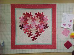 Twister heart quilt