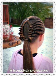 Window braid ponytail tutorial