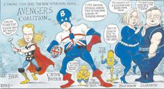 A Coalition/ Avengers cartoon by Chris Riddell, 22/04/12