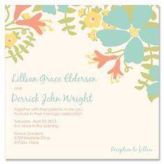Bloom Wedding Invitation - Unique Wedding Invitation by The Green Kangaroo