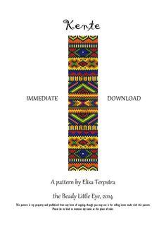 Kente, odd count Peyote pattern for a bracelet