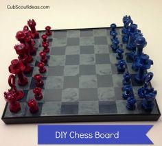 Webelos Craftsman Ideas: DIY Chess Board - Cub Scout Ideas