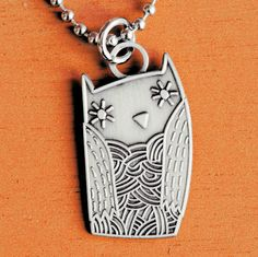 Owl Charm Necklace at http://boygirlparty.etsy.com #Etsy #Halloween