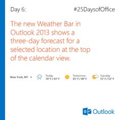 how to change outlook calendar weather to celsius