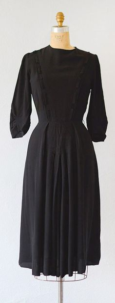 vintage 1930s dress   vintage 30s classic black day dress #1930s #30s #vintage