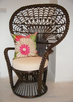Kristy Lee Interiors: New! Rattan peacock chair in store now!!