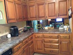 Kitchen Cabinets Refinished With Rust Oleum Cabinet Transformations