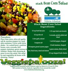 Black Bean & Corn Salad recipe. Goes great with Mexican dishes!