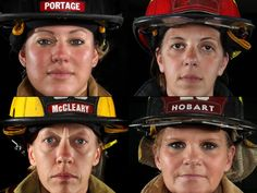 Clockwise from left; Portage firefighter Teresa Janovitz, Chesterton firefighter Aimee Gilbert, Hobart firefighter Patti Brazil and Valparaiso firefighter Teresa McCleary. Nationally, according to the U.S. Bureau of Labor Statistics, only 3.6 percent of all career firefighters are women.