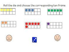 smartboard kindergarten, ten frames, smartboard game, number