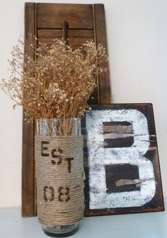 I like the idea of wrapping a vase and having something on it, like a monogram or table number.
