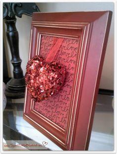 Super Cute, Easy & Inexpensive DIY Valentine Decor - Great Gift Idea!