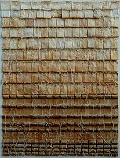 Collage (used tea bags) by Armen Rotch.