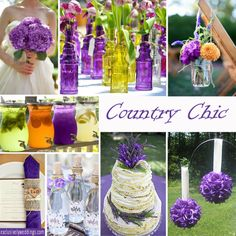 Coutry Chic Wedding in Purple