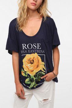 Title Unknown Oversized Rose Slub Tee