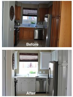 The Butcher, The Baker, The Project Undertakers: Refinishing Our Kitchen Cabinets, Oak to White