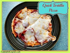 Quick Tortilla Pizza Recipe