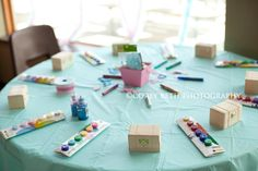 paint your own treasure chest - mermaid party activity
