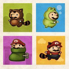 games, artworks, geek art, illustrations, super mario brothers