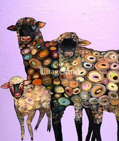 Woolly Sheep in Lavender  by Eli Halpin