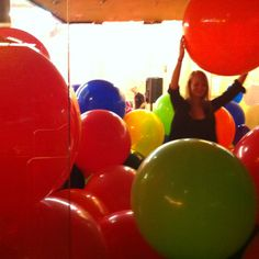 A room full of giant balloons!