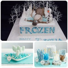 39+ Ideas for a Frozen party-Cakes, Desserts, Decorations-everything you need