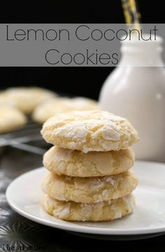 Soft and chewy lemon coconut cookies