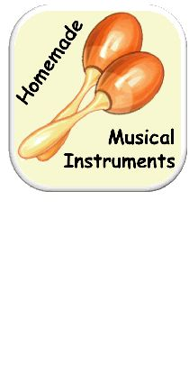 Storytime Songs Homemade Musical Instruments - lots of great ideas including drums, tambourines, shakers and other percussion instruments #DIY