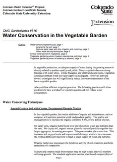 This guide from Colorado State University outlines garden practices to help grow vegetables with water efficiency in mind.