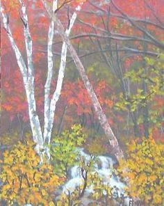 Fall Western North Carolina Painting 11x14 Acrylic landscape by Pat Adams Art.  Available paintings can be seen in my Ebay store at: http://stores.ebay.com/Pat-Adams-Art-Paintings-and-Photos