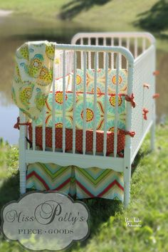 pop garden fabric, baby girl nursery without being overly girly