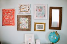 Love this vintage-inspired gallery wall! {Click through to see our favorite gallery walls} #nursery #gallerywall