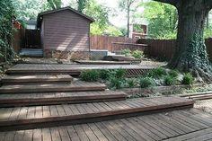 up hill terrace backyards - Google Search
