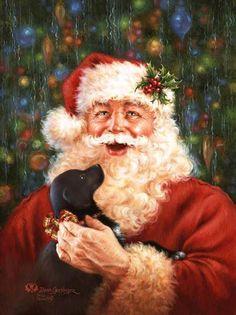 . craft, christma santa, santa claus, jolli, candi cane, noel, dona gelsing, antiqu, friend