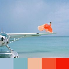 Beautiful color palette       #aqua, #coral, #tangerine, #salmon, and #sky