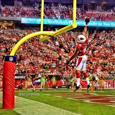Another look at the post-touchdown dunk by #AZCardinals WR #MichaelFloyd! #photographyaz #nfl #nfl #ATLvsAZ #azlottery #photooftheday