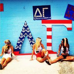 Delta Gamma at University of Arizona #DeltaGamma #DG #BidDay #America #letters #sorority #Arizona