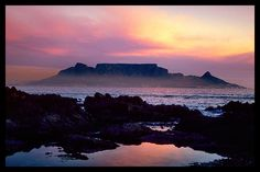 Sunsetting over Table Mountain