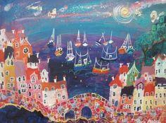 mead allartthatilov, sarah mead, boats, paintings