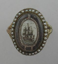 Circa 1800 Mourning Ring.