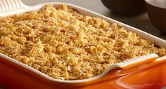 Ultimate Macaroni & Cheese : This is America's favorite comfort food – tender macaroni, rich and cheesy sauce and a crisp crumb topping.